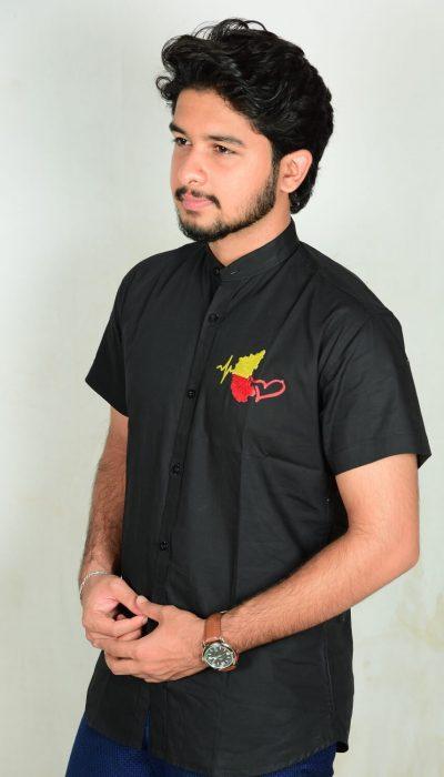 Kannada-Karunada-Chakravarthi-BlackFullArm-Shirt03