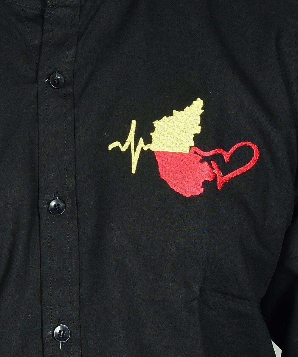 Kannada-Karunada-Chakravarthi-BlackFullArm-Shirt08